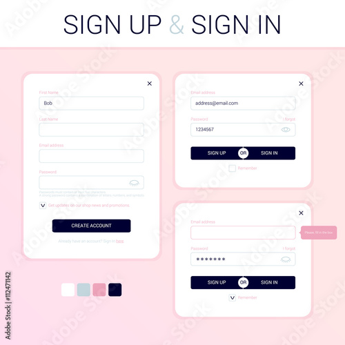 the modal windows for the development of the web site sign up formthe modal windows for the development of the web site sign up form sign in form minimal clean flat style ui ux design login form registration form