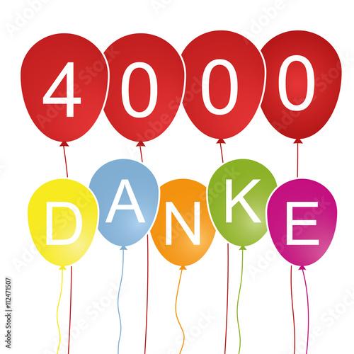 Fotografia, Obraz  4000 Danke - Luftballons
