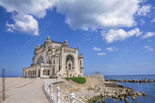 Recess Fitting Ruins Beautiful summer landscape with Old Casino, symbol of the Constanta city, Romanian coastal destination at the Black Sea