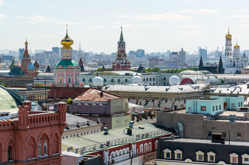 Fototapeta Moskwa View to Downtown, Spassky tower, bell tower of Ivan the Great in Moscow. Russia