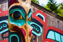 Totem Pole Near Saxman Tribal ...