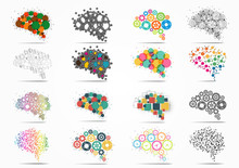Abstract Set Brain Graphic