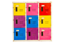 Colorful Old Cabinet Lockers I...