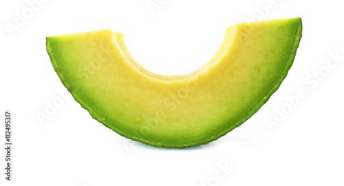 Fotografie, Obraz  Sliced avocado isolated on white