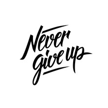 Never Give Up Motivational Quo...