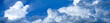 Sky with clouds for a website banner.
