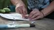 cutting the stencil