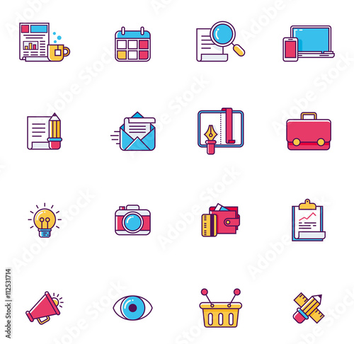 Vector Linear Universal Web Page Symbols Buy This Stock Vector And