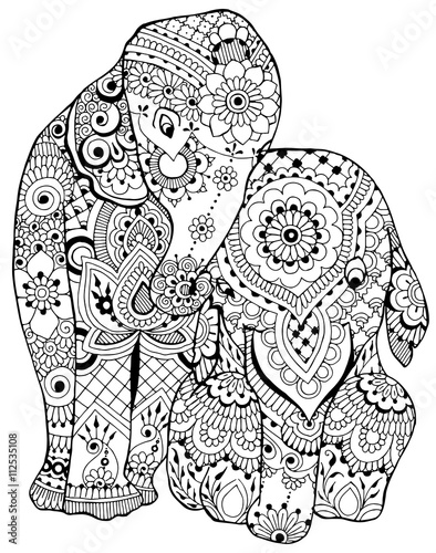 Photo  elephant with ornament