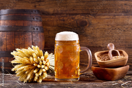 mug of beer with wheat ears Plakát