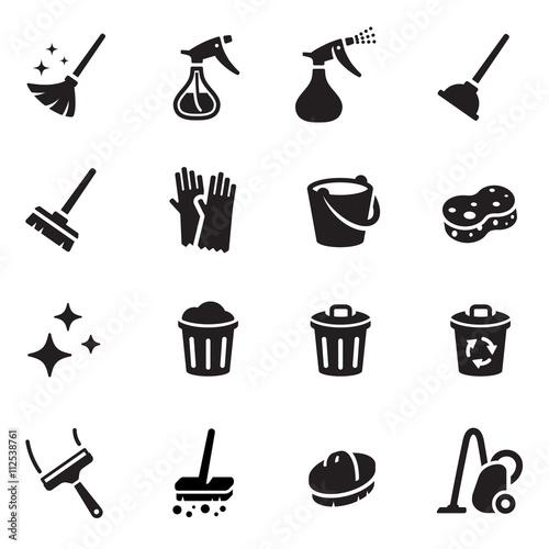 Fotografie, Obraz  Keep Clean Vector Icon Set