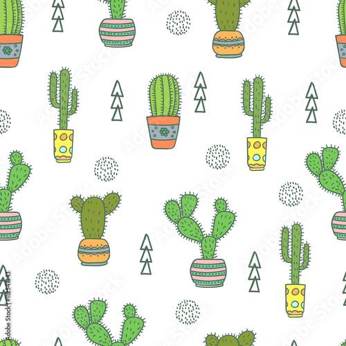 wzor-z-kaktusami