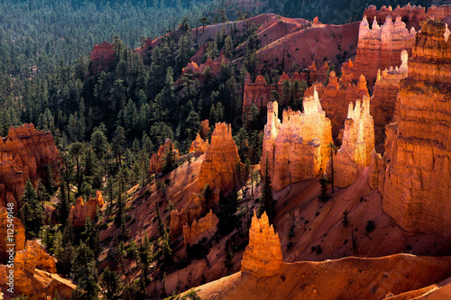 La pose en embrasure Rouge mauve Scenic view of Bryce Canyon Southern Utah USA