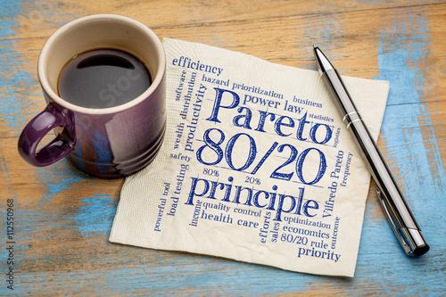 Photographie  Principe de Pareto, 80-20 règle