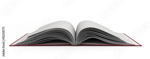Fotografía  open book 3d render on white background
