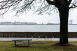 Bench for the loneliness and solitude on the shores of the Baltic Sea.