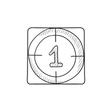 Countdown Sketch Icon.