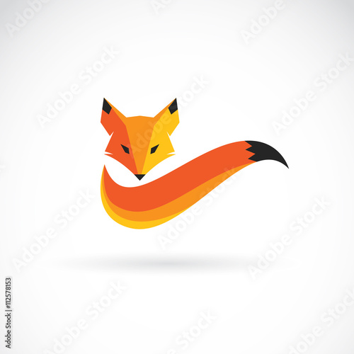 Photo  Vector image of an fox design on white background