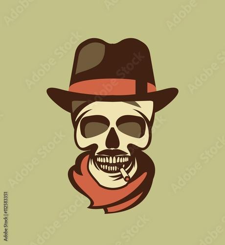 Fotografija  Skull in hat gangster