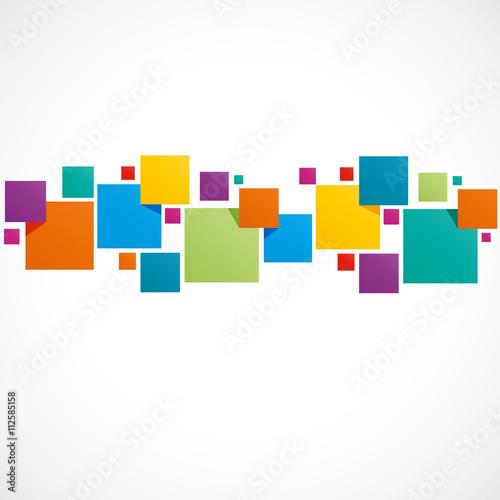Fotografía  fond abstrait,carré coloré