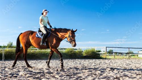 Deurstickers Paardensport Reitstunde