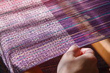 Hands Of The Woman Weaving On ...