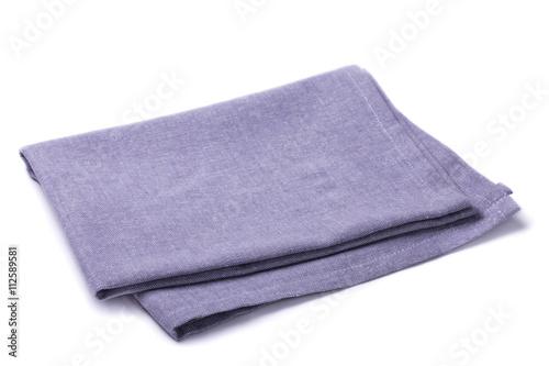 Fotografie, Obraz  Folded napkin lilac color on a white background