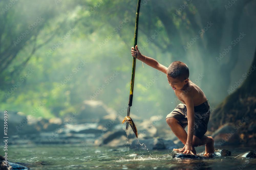 Fototapeta Boy Fishing