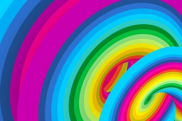 Plakat abstract colorful background 3d illustration