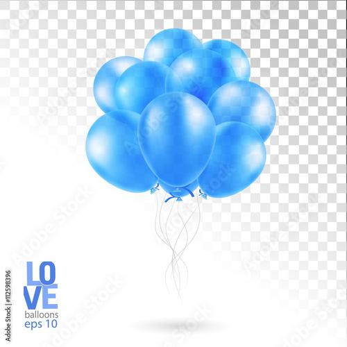 Foto op Plexiglas Groene Realistic Bunch of Birthday Balloons