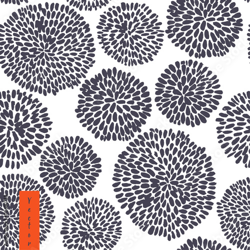 Fotografia  Hand drawn floral japanese pattern