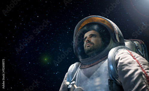 Astronaut looking at the infinite space