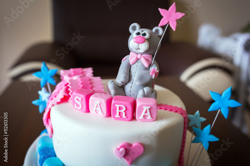 Birthday Cake For Baby Boy And Girl Twins With Names Acheter Cette