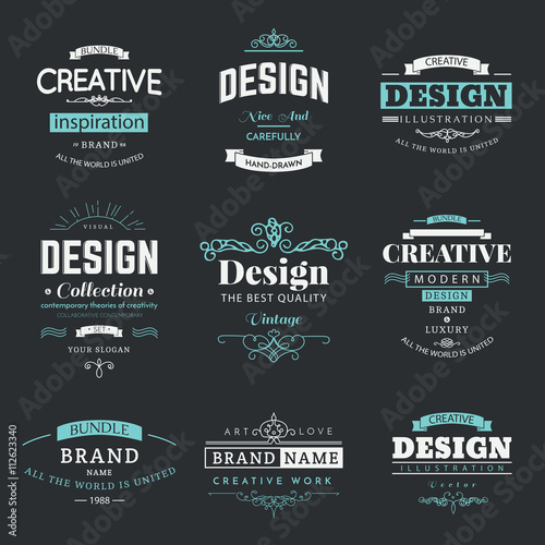 Retro creative vintage labels template and logo set vector design retro creative vintage labels template and logo set vector design elements business signs branding friedricerecipe Image collections