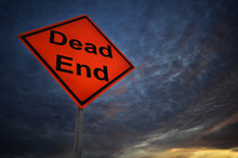 Dead End Warning Road Sign