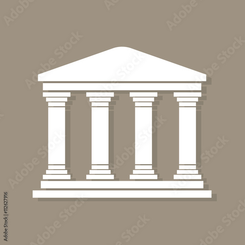 Fotomural Architecture greek building symbol, with shadow, structure pillars, ancient arch