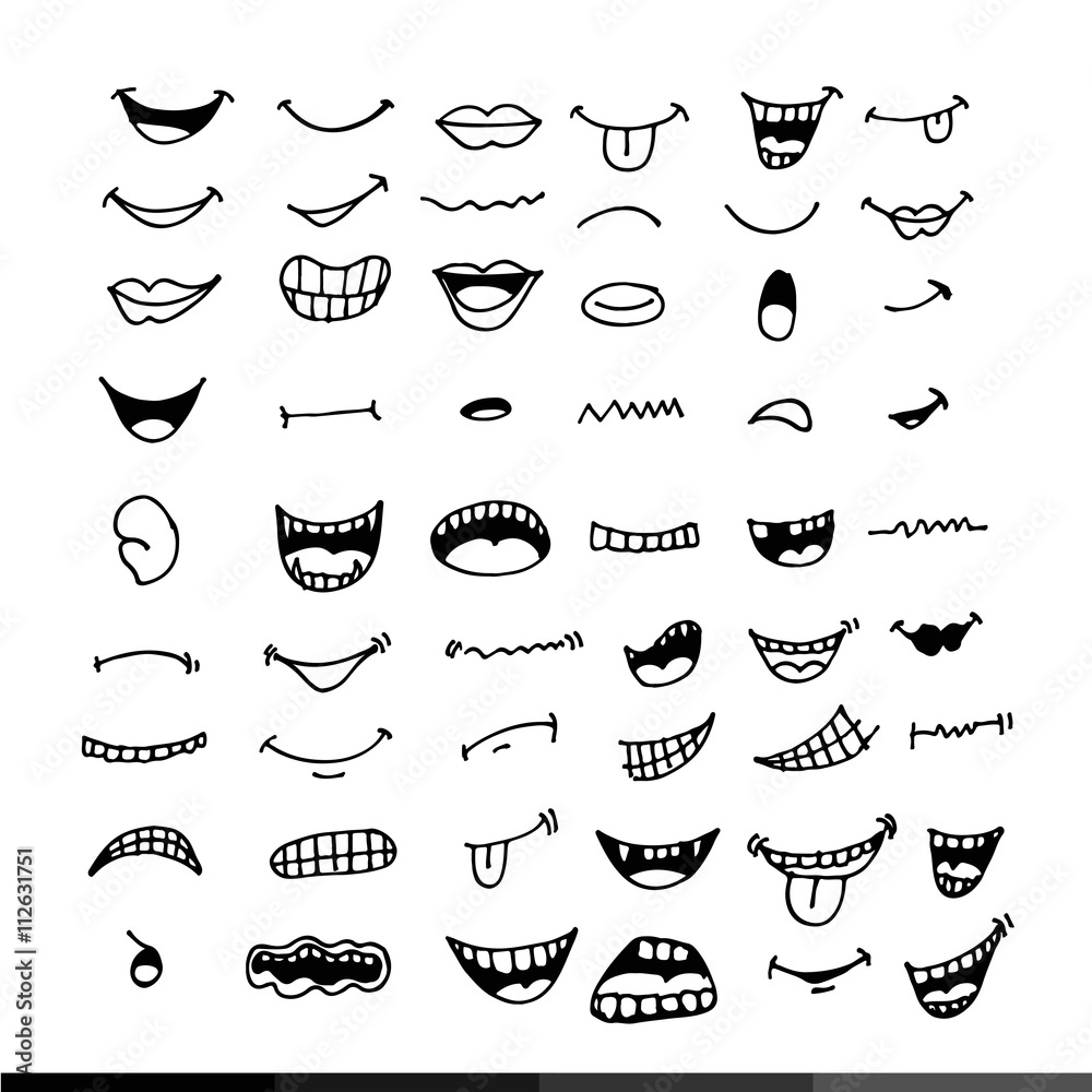 Fototapety, obrazy: cartoon mouth icon Illustration design