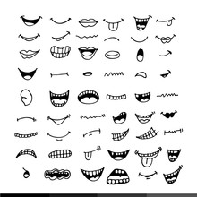 Cartoon Mouth Icon Illustratio...