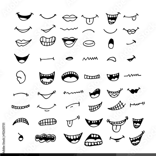 Fotografie, Obraz  cartoon mouth icon Illustration design