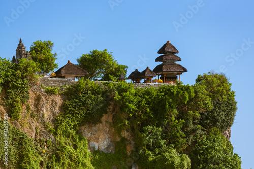 Plakat Uluwatu świątynia w Bali Indonezja