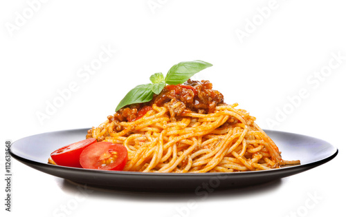 Leinwand Poster Traditional spaghetti bolognese