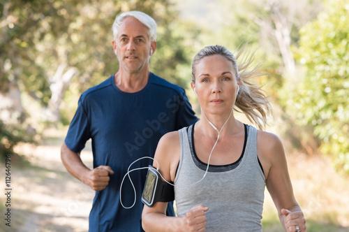 Foto Couple jogging