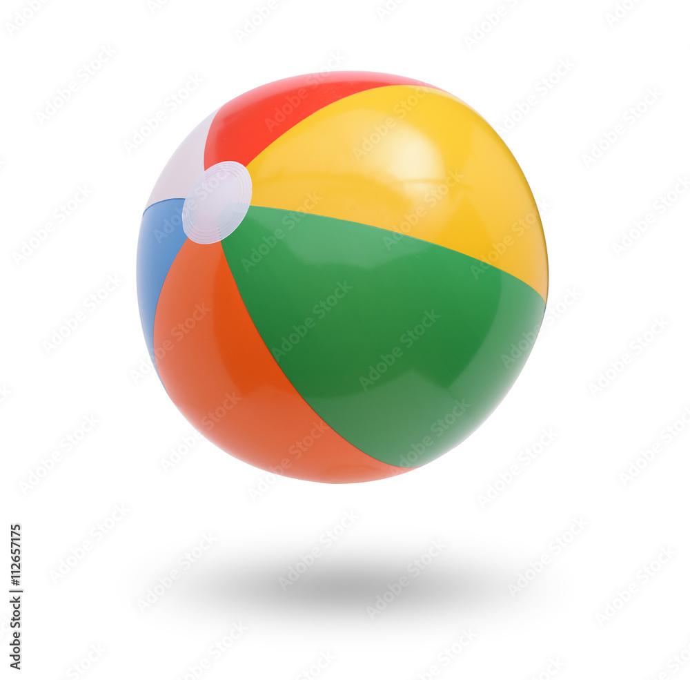 Fototapety, obrazy: Beach ball isolated on white