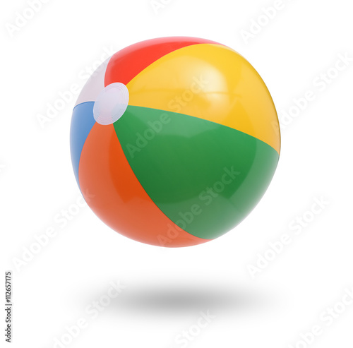 Fotografie, Obraz  Beach ball isolated on white