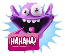 3d Illustration Laughing Chara...