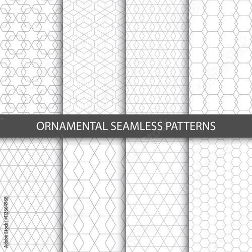 Fototapeta Ornamental seamless patterns - vector collection.  obraz na płótnie