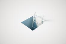 Success Concept White Ladder