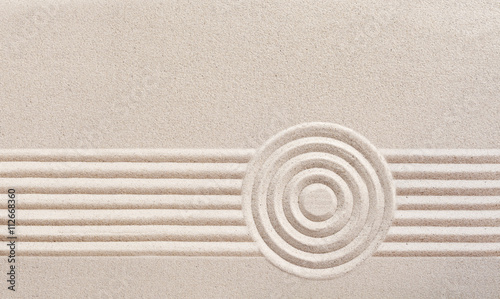 Spoed Foto op Canvas Zen Japanese zen garden with raked sand