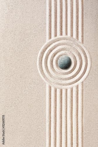 Foto op Canvas Zen Neatly raked patterns in a Japanese Zen Garden