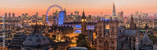 Phoo of London skyline at sunrise